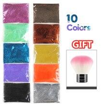 5/10pcs 80g Nail Glitter Powder For Polish DIY Decoration Shining Purple Blue Silver Pigment Tips Art Manicure