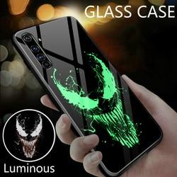 На Алиэкспресс купить стекло для смартфона luxury venom luminous glass phone case for realme x x2 pro xt xlite x50 k1 k3 k5 3pro bat cover coque