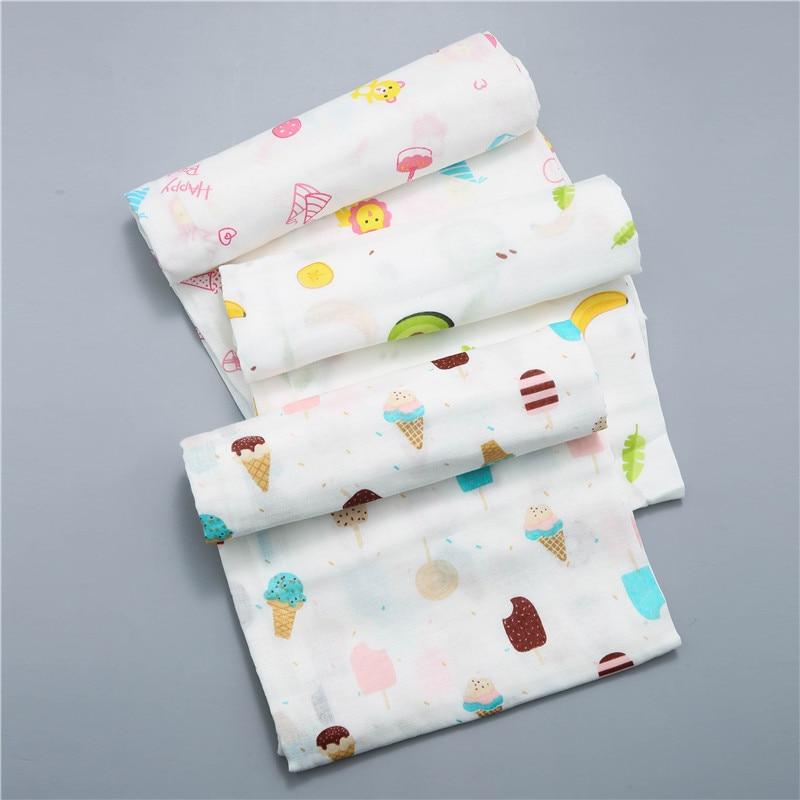 120x110cm Baby Blankets Newborn Cotton Baby Blanket Muslin Baby Blankets Swaddles Newborn Photography