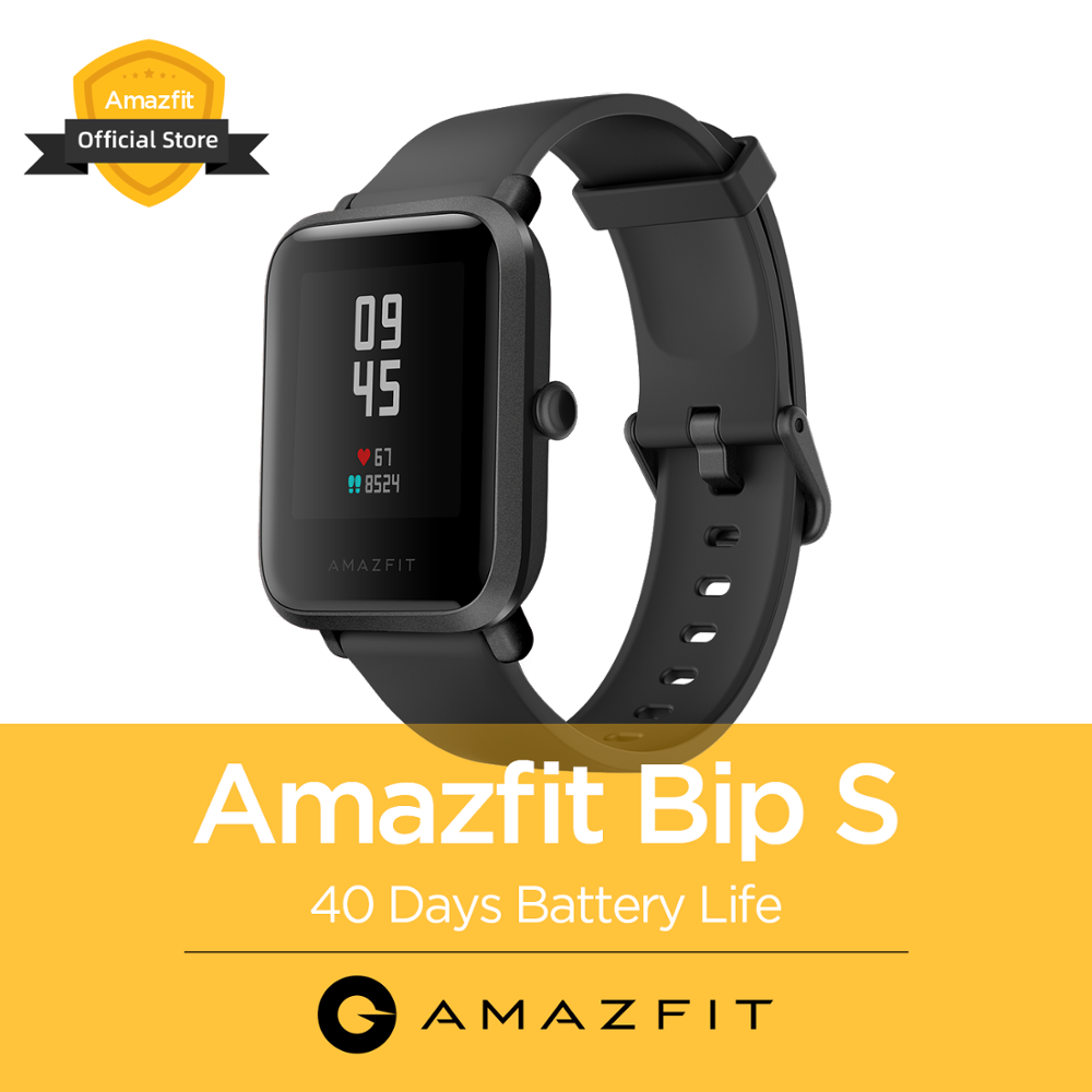 2020 New Global Amazfit Bip S Smartwatch 5ATM Waterproof Built In GPS GLONASS Bluetooth Smart Watch For Android IOS Phone