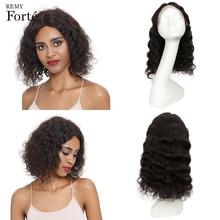 Remy Forte, парики из натуральных волос на кружеве, кудрявые короткие человеческие волосы, парик, индийские волосы Remy, парики из кудрявых волос на кружеве, парик из u-образной части