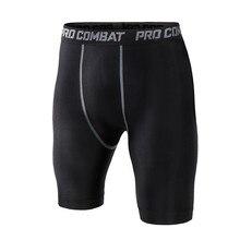 Shorts de Fitness pour hommes, Compression à la taille élastique, pantalons courts Slim, pantalons de sport, collants de gymnastique 12