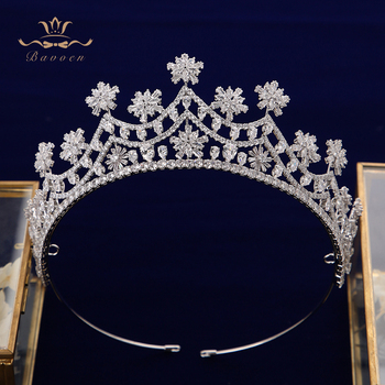 Fashion Silver/Gold Royal Zircon Brides Tiaras Crown Crystal Bridal Hairbands Headpiece Wedding Hair Accessories