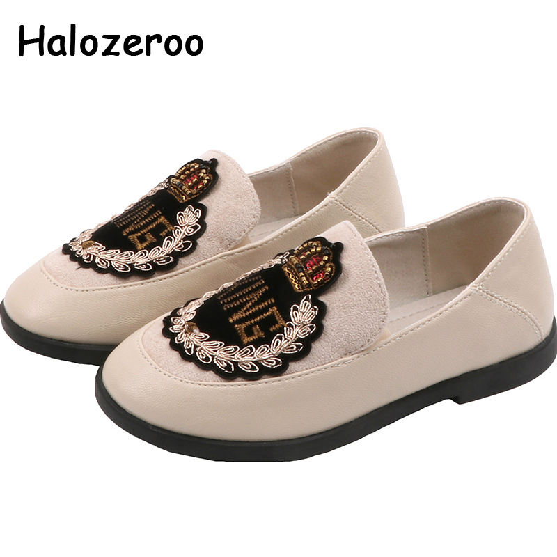 New Spring Kids Shoes Children Slip On Shoes Baby Girls Soft Rhinestone Loafers Brand Black Moccasin Fashion School Flats 2020