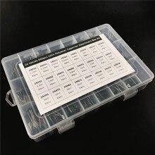 24 قيمة 660 قطعة مجموعة مكثف 100 فولت 2A221J إلى 2A474J طبقة بوليستر رقيقة مكثف مجموعة متنوعة مع صندوق تخزين