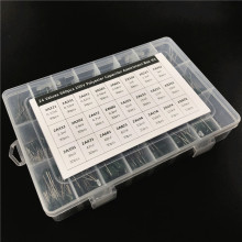 24Value 660pcs capacitor kit 100V 2A221J to 2A474J Polyester Film capacitor Assorted Kit with storage box
