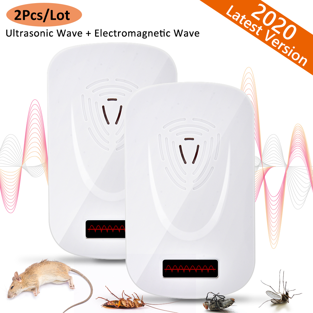 Ultrasonic Mouse Cockroach Pest Repeller Device Insect Rats Spiders Anti Mosquito Killer Pest Control Household Pest Rejector