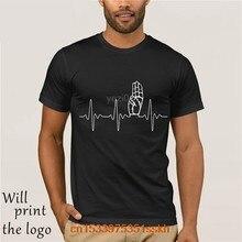 Camiseta scout movimento battito cardiaco por gli uomini di marca vesti di estate 2020 o-collo manica corte em cotone