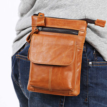 Messenger Bags Bolso Hombre Work Man Brand sacoche homme Cow Leather Pouch Men Bag Genuine Single Small Mobile