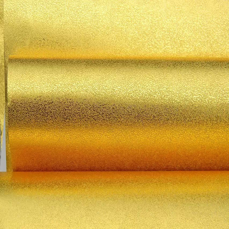 Top Grade Gold Silver Dull Polish Reflective Wallpaper KTV Bar Nightclub Restaurant Ceiling Gold Foil Wallpaper