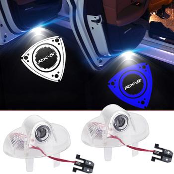 HD LED oświetlenie drzwi samochodu RX8 projektor do Logo cień duch witamy Ligh dla Mazda RX-8 CX-9 A8 8 odznaka światło ostrzegawcze 12V Car Styling tanie i dobre opinie YANF CN (pochodzenie) Światło na powitanie For Mazda RX-8 2003- 2018 Car Door Logo Light PC + LED 11013 14 15 2 pcs * Car Door Logo Light