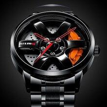 New Unique Wheel Hub Watch Special Design Sports Car Rim Watches Waterproof Creative Relogio Masculino 2021 Watch Men Wristwatch