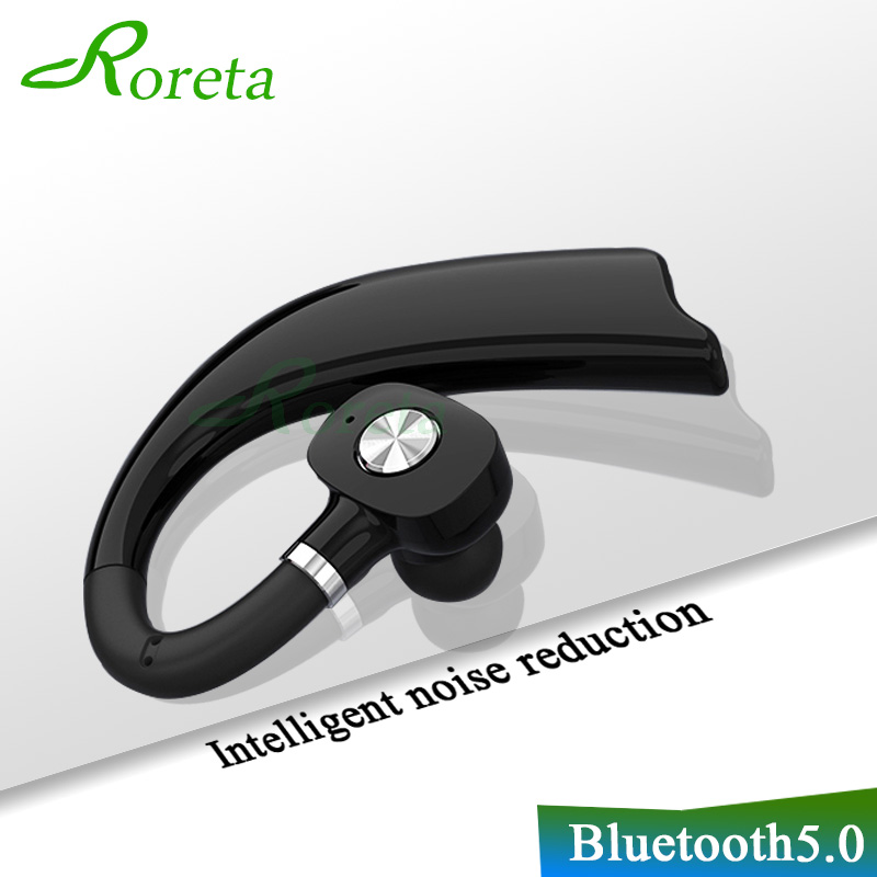 Roreta 3D Stereo Wireless Bluetooth <font><b>Earphone</b></font> Business Handsfree call Headset <font><b>with</b></font> <font><b>Microphone</b></font> Earbuds <font><b>Earphones</b></font> for iPhone huawei image