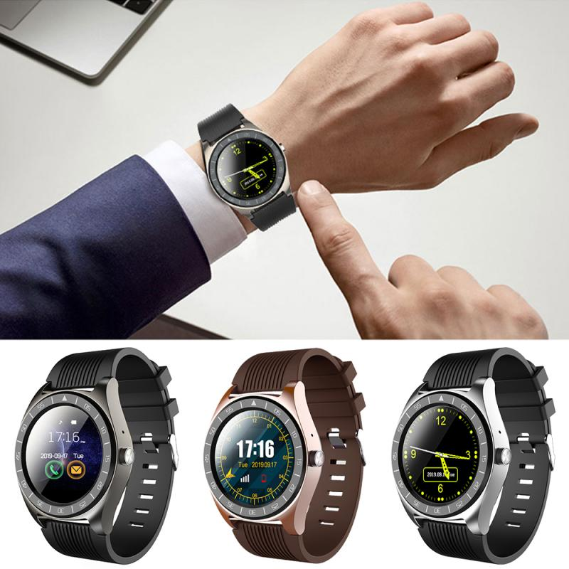 1pc Fashion V5 Smart Watch Phone Support TF SIM Card MP3 0.3MP Camera Bluetooth Sync Notifier Clock For Apple Android IOS Tools