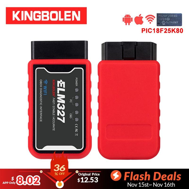 ELM327 WiFi V1 5 PIC18F25K80 Chip OBDII Diagnostic Tool IPhone Android ELM 327 Bluetooth V 1 ELM327 WiFi V1.5 PIC18F25K80 Chip OBDII Diagnostic Tool IPhone/Android ELM 327 Bluetooth V 1.5 ICAR2 Auto Scanner Code Reader