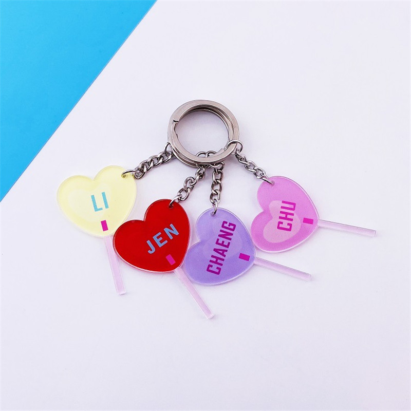 KPOP BlackPink Heart Shape Sping Concert Key Chain Keyring Pendant KILL THIS LOVE JISOO LISA ROSE JENNIE Fans Gifts(China)