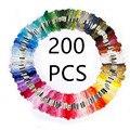 200 шт случайных цветов нить для вышивки крестиком нить для рукоделия шелковая линия нитки для вышивания аналогичная нить