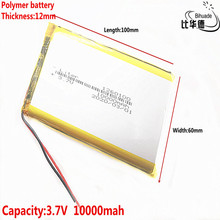 1/2/5/10 teile/los Gute Qulity 3,7 V,10000mAH,1260100 Polymer lithium ion/Li Ion batterie für SPIELZEUG, POWER BANK,GPS,