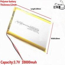 1/2/5/10 unids/lote buena calidad 3,7 V,10000mAH, batería de iones de litio/Li ion de polímero 1260100 para juguete, Banco de energía, GPS,
