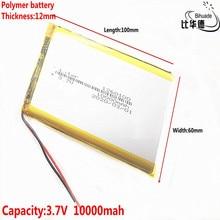 1/2/5/10pcs/lot Good Qulity 3.7V,10000mAH,1260100 Polymer lithium ion / Li ion battery for TOY,POWER BANK,GPS,