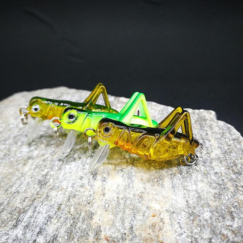 5 Packaged in the Shape of Bars Grasshopper  Grasshopper Lure Bass Bait Bionic Hard Bait Lure Fishing Gear Set|Floodlights| |  - title=