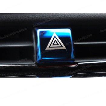 Lsrtw2017 car warning light switch button cover trims for toyota camry 2019 2020 2018 70 v70 xv70 trd accessories sport edition image