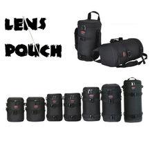 หนาไนล่อนกล้องกันน้ำเลนส์กระเป๋ากระเป๋ากรณีป้องกันสำหรับCanon Nikon SONY Sigmaเลนส์