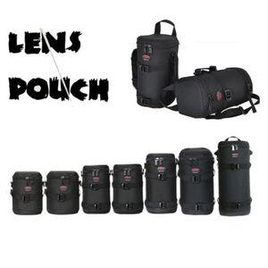 Image 1 - Kalın güçlü naylon yastıklı kamera su geçirmez Lens çantası çantası koruyun kılıf kemer Canon Nikon SONY için Sigma lensler