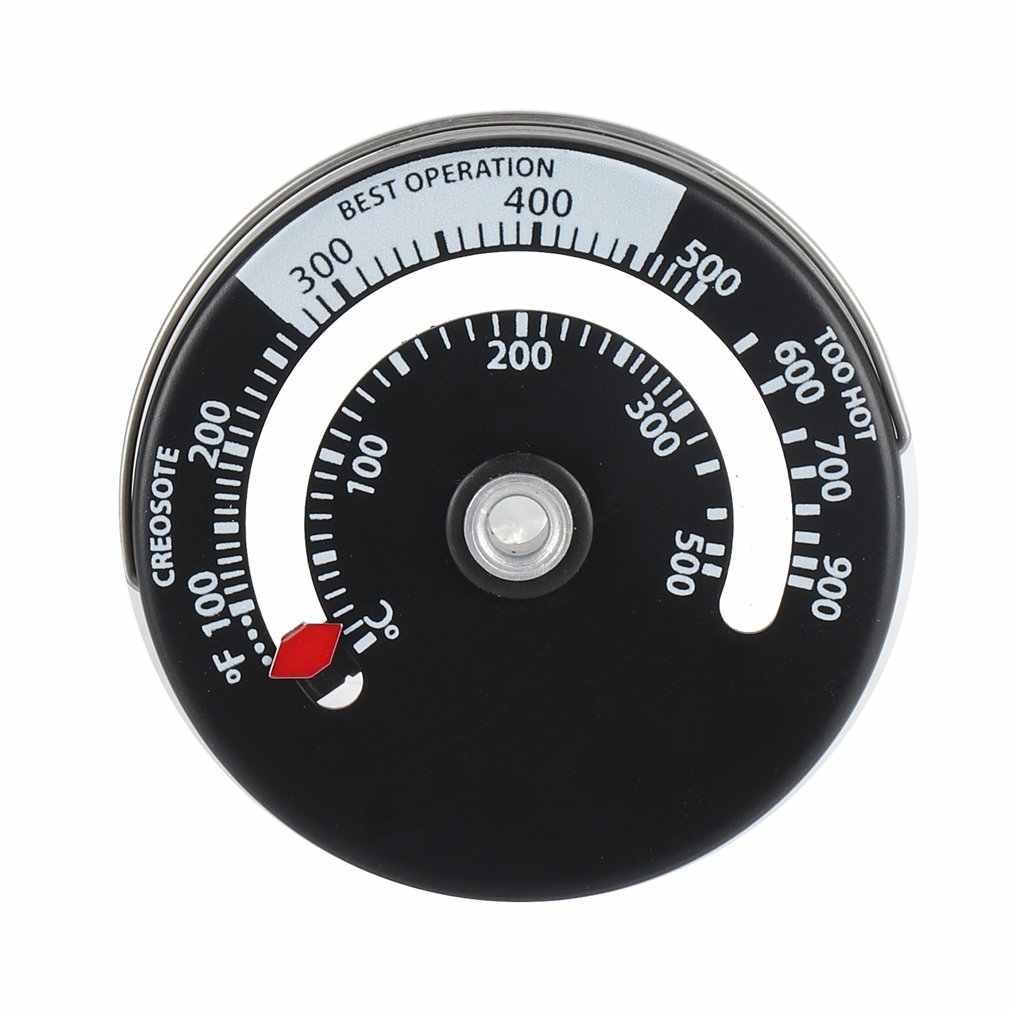 Chaleur pour poêle à bois poêle à bois brûleur de cheminée thermomètre magnétique poêle tuyau supérieur thermomètre jauge de température