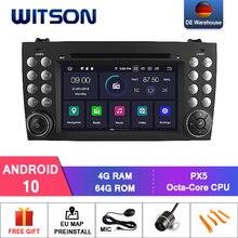DE Estoque! Witson px5 android 10 ips carro dvd para benz r171 w171 slk r171 slk200 navegação do carro plarer multimídia