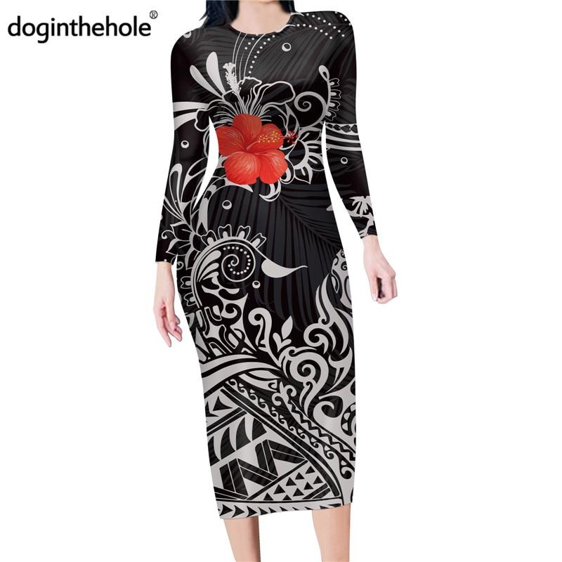Doginthehole женское платье карандаш с длинным рукавом и вырезом