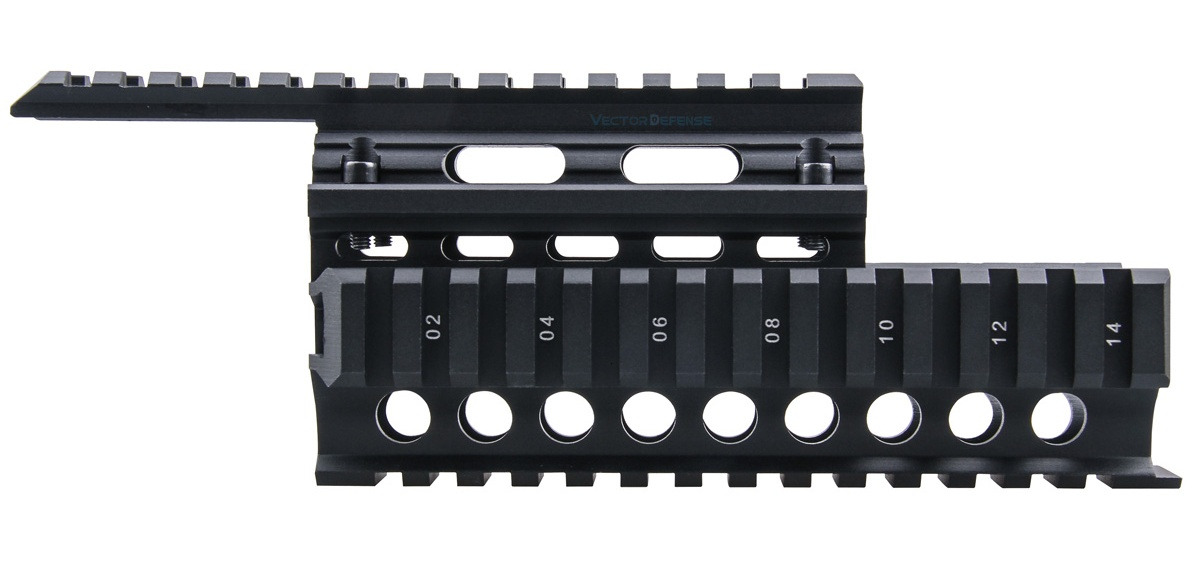 Векторная оптика 2-piece Handguard Quad Rail system Mount fit AK 47& 74 Free Rail Cover Guards