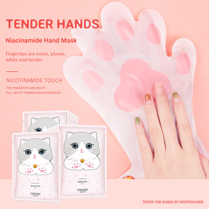 1 Pair Cat's Claw Glove Hand Mask Niacinamide Hand Mask Skin Care Exfoliating Tender Moisturizing Brightening Skin Tone TSLM1