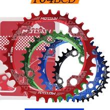 MTB Chainring Crankset Bike Circle Narrow Single-Plate 104BCD 36T/38T Round-Shape