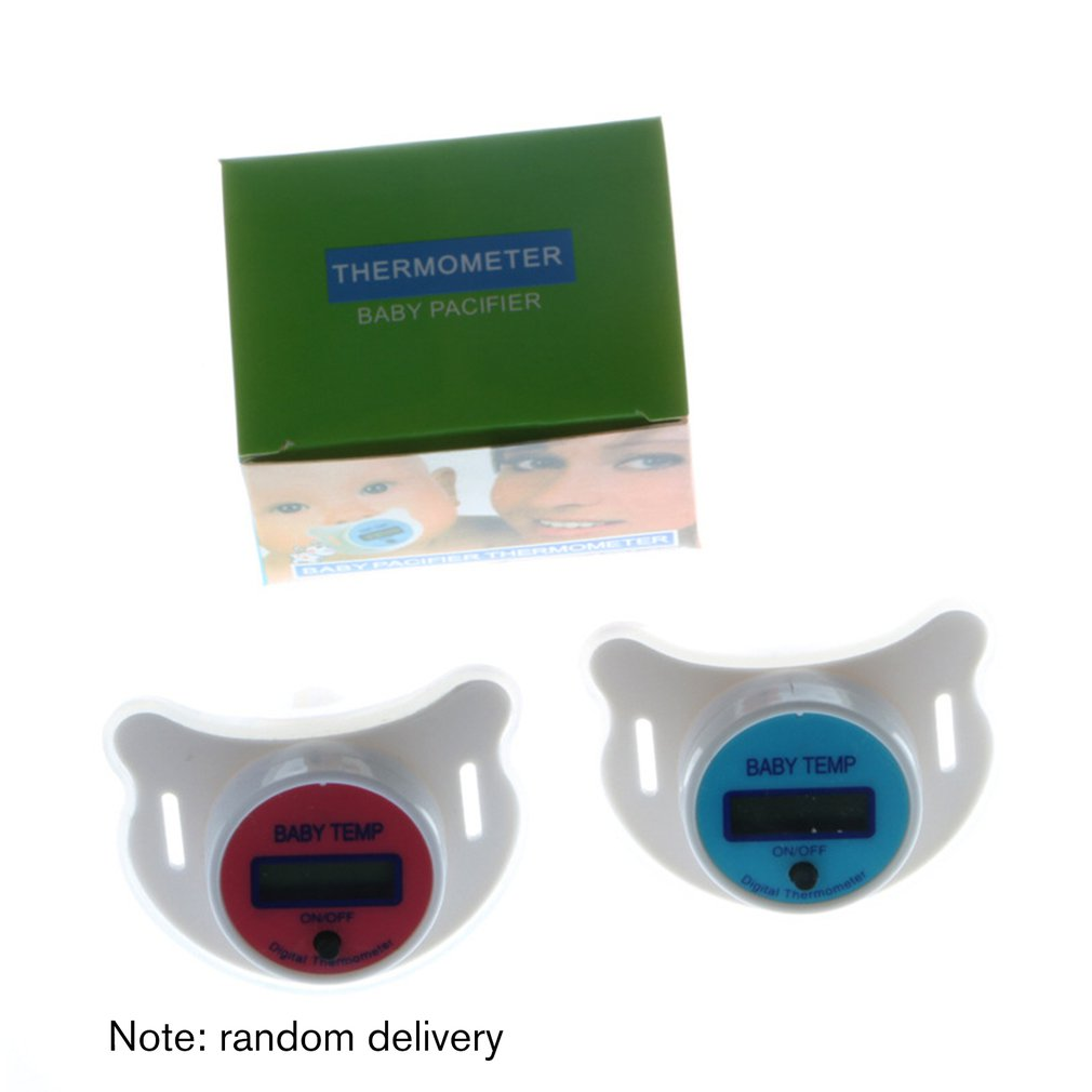 Baby Pacifier Thermometer Silicone Pacifier Lcd Digital Thermometer Baby Thermometer Pink Blue Optional