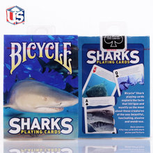 Bicycle Sharks Playing Cards Poker Size USPCC Limited Edition Deck Magic Cards Magic Tricks Props for Magician Free Shipping недорого