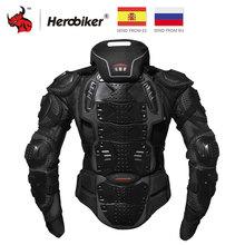 HEROBIKER мотоциклетная куртка мотоциклетная Броня гоночная Защита тела куртка для мотокросса мотоциклетная Защитная Экипировка+ защита шеи