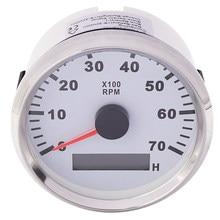 Tacómetro de Motor eléctrico para barco fueraborda, tacómetro de Motor eléctrico de 7K RPM con medidor de hora, luz trasera roja de 85 mm