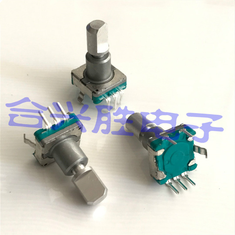 EC11 Encoder With Switch 30 Positioning 15 Pulses Shaft Length 16.5MM Push Switch Stroke 1.5MM