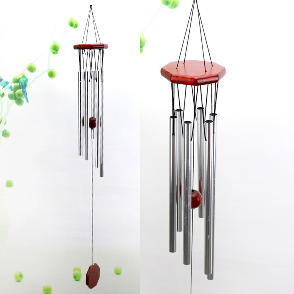 Wind Chimes Aluminum Tubes Hanging Ornament Home Outdoor Garden Yard nursery Decor Solid wood retro wind chime metal ornaments