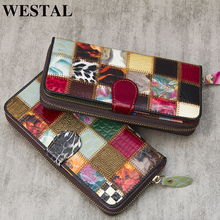 WESTAL women's wallets genuine leather wallet