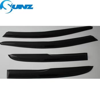 Window Deflectors For PEUGEOT 307 2004 -2013 Black Window Visor Vent Shades Sun Rain Deflector Guard SUNZ