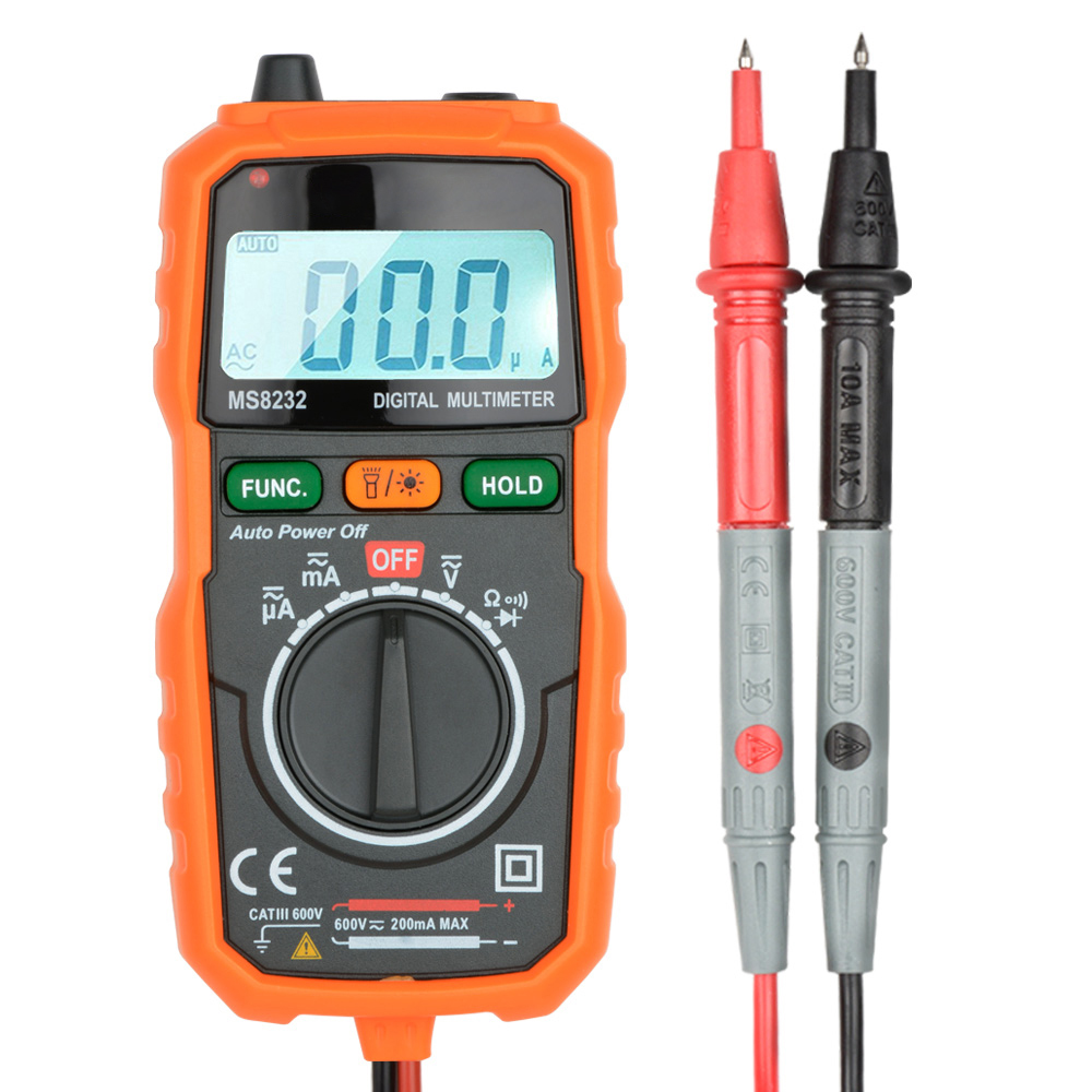 Digital Multimeter AC/DC Transistor Tester Electrical NCV Test Meter Profesional Analog Auto Range Multimetro Multitester Buzzer