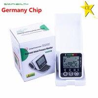 Saint health automatic pulso tonômetro monitor de pressão arterial digital lcd pulso manguito medidor de pressão arterial esfigmomanômetro