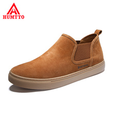 Genuine Leather Men Casual Shoes Light Luxury Brand 2020 New