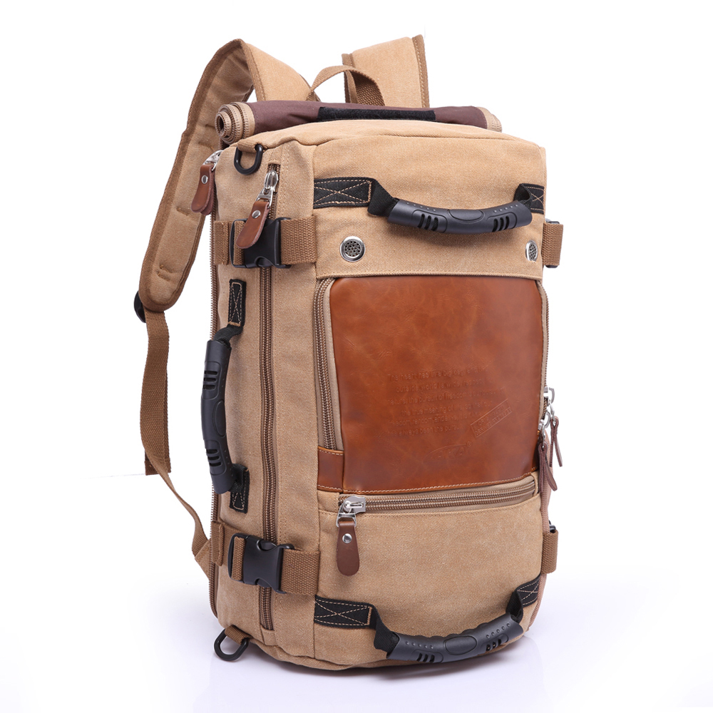 Brand Stylish Travel Large Capacity Backpack Male Luggage Shoulder Bag Sports Backpacking Men Functional Versatile Canvas Bags