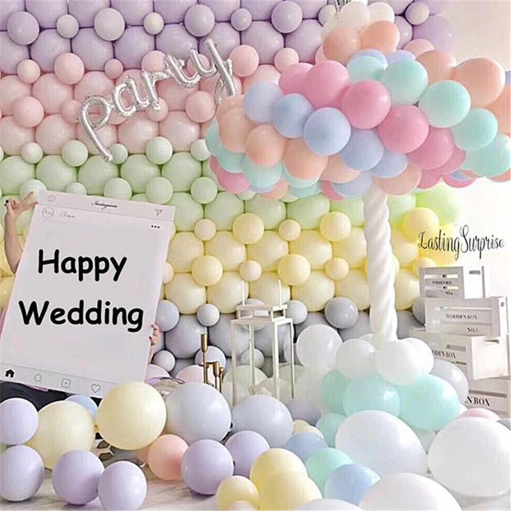Partigos 50Pcs 5 นิ้วCandy Macaron Latexบอลลูนฮีเลียมบอลลูนสำหรับงานแต่งงานวันเกิดของเล่นเด็กGlobosบอลลูนปาร์ตี้