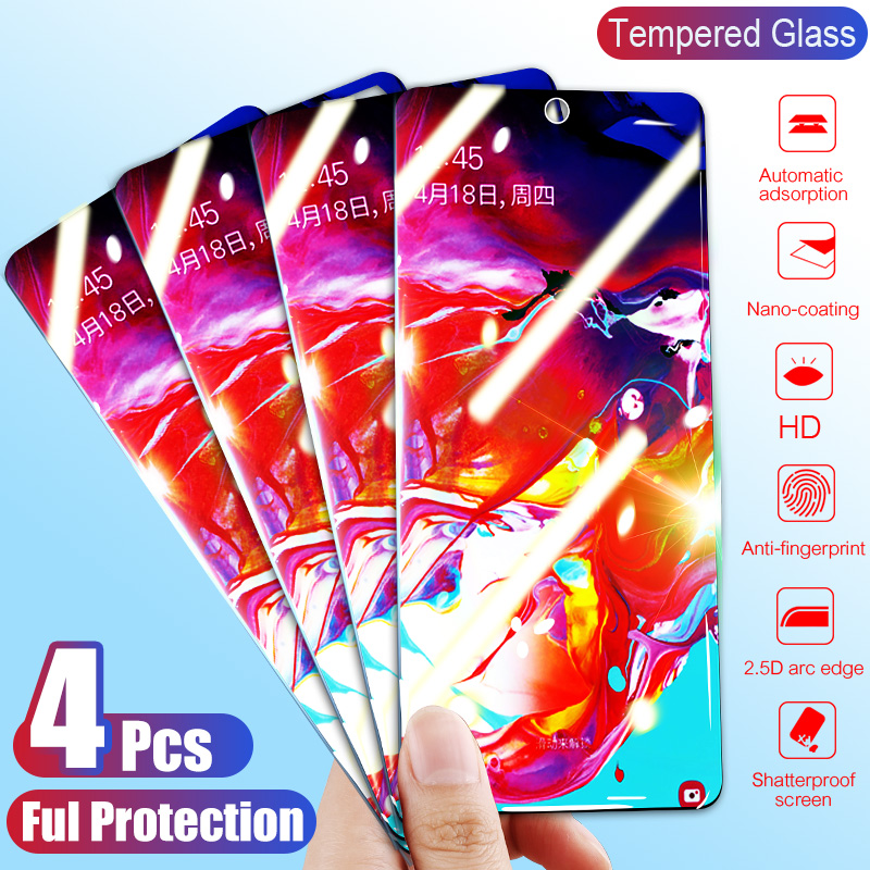 4Pcs Tempered Glass For Samsung Galaxy A80 A70 A60 A50 A40 A30 A20 A10 Screen Protector Protective Glass For Samsung M30 M20 M10