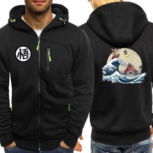 Image 2 - Master Roshi Hoodie Men Sweatshirt Japanese Anime Hoody Dragon Ball Z Mens Hoodies 2019 Autumn Winter Casual Streetwear Jacket