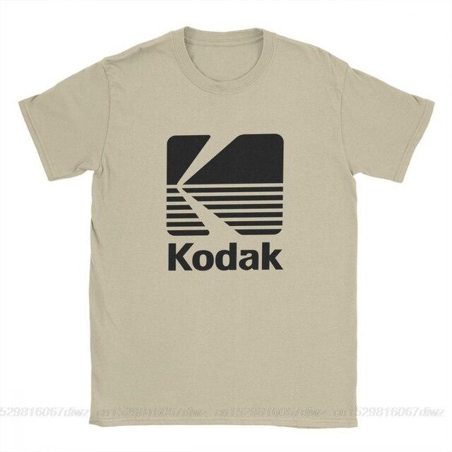 Un yona Kodak photographie Logo T-Shirt pour hommes caméra Film rétro à manches courtes Vintage T-Shirt col rond coton vêtements conceptions